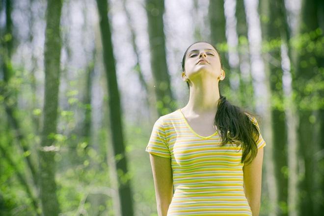 kvinde på retreat